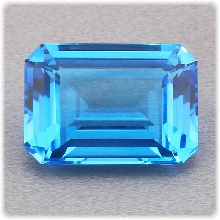 Topas blau facettiert 8-eck 17 mm x 12 mm / 14,72 ct. / Brasilien