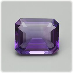 Amethyst Achteck facettiert / 12,6 mm x 10,2 mm / 4,82 ct.