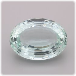 Aquamarin oval facettiert 18 mm x 13 mm / 12,80 ct.