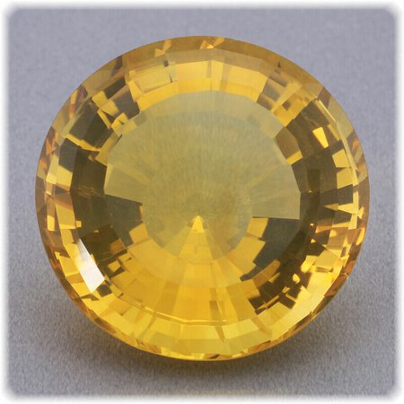 Citrin facettiert Fantasie Schliff / Fancy Cut / 20 mm Rund / 25,10 ct.