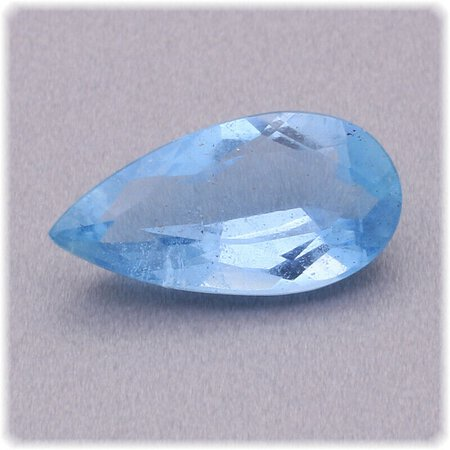 Aquamarin Tropfen facettiert / 14 mm x 7 mm / 2,46 ct. / Brasilien